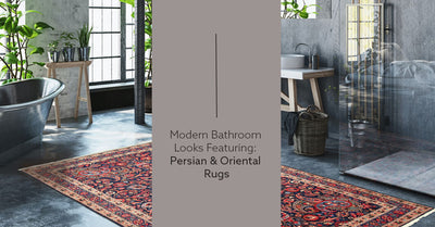 Modern Bathroom Looks Featuring: Persian & Oriental Rugs