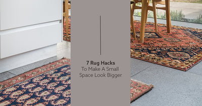 7 Rug Hacks To Make A Small Space Look Bigger