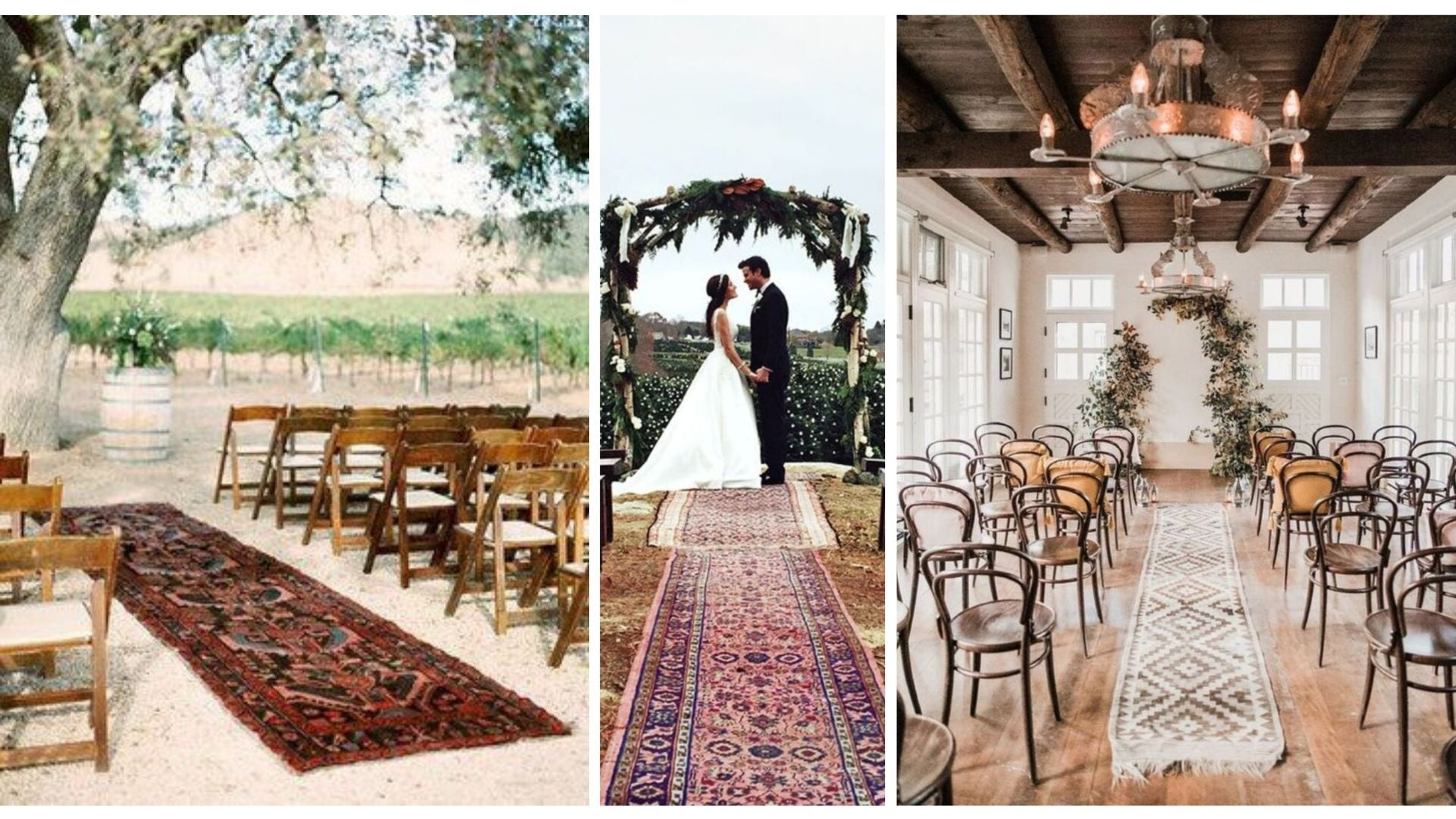 walk down the aisle on a persian runner