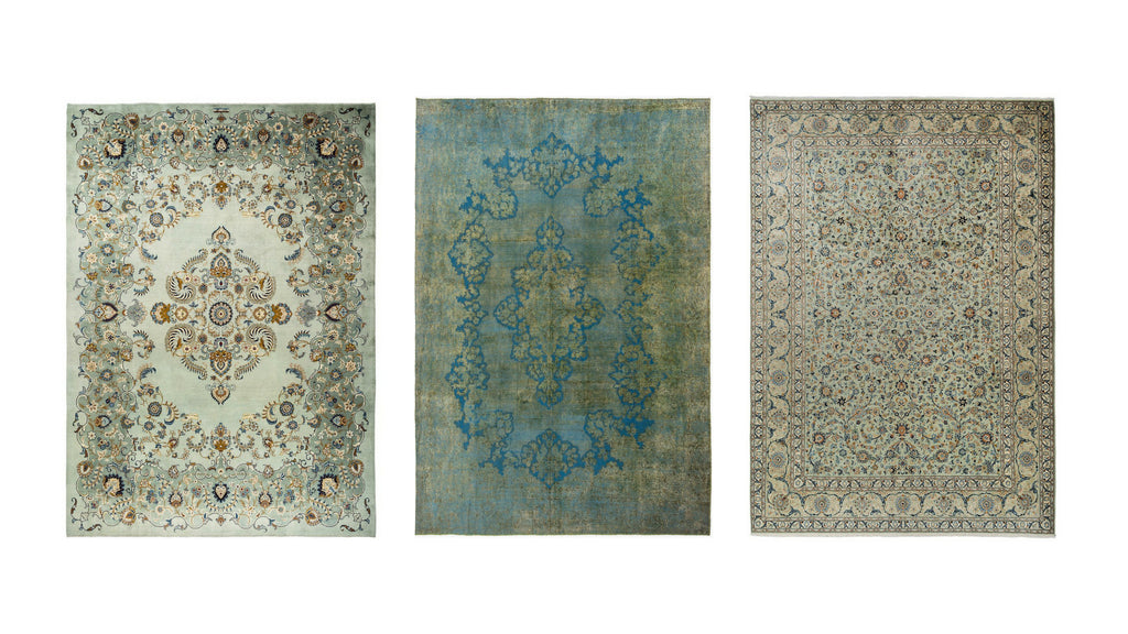 PALE GREEN RUGS