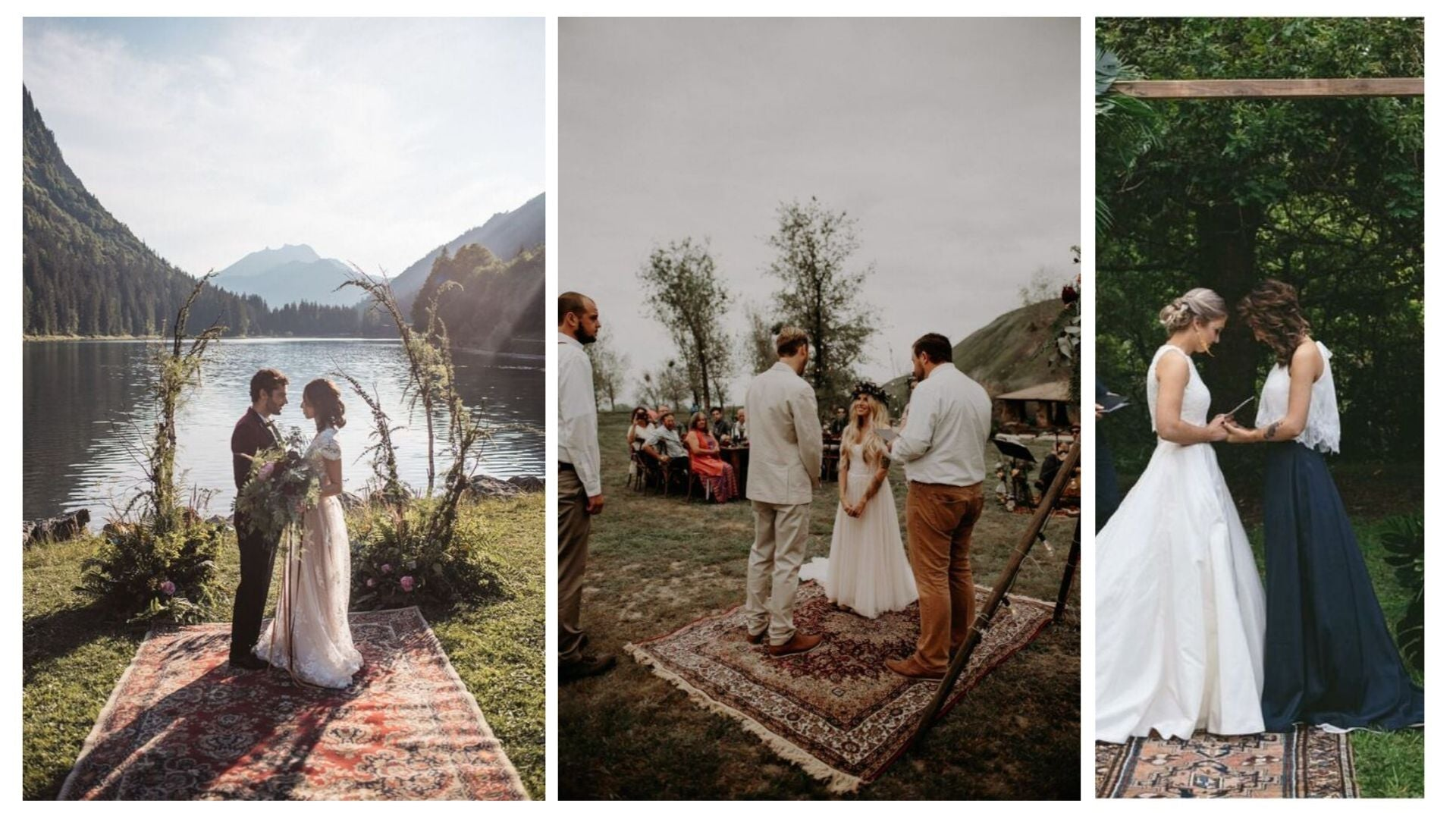 getting married on a persian rug tradition