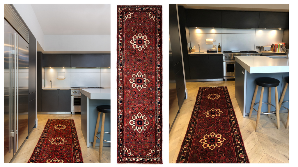 Persian Village Runner for the Kitchen Dark Colours