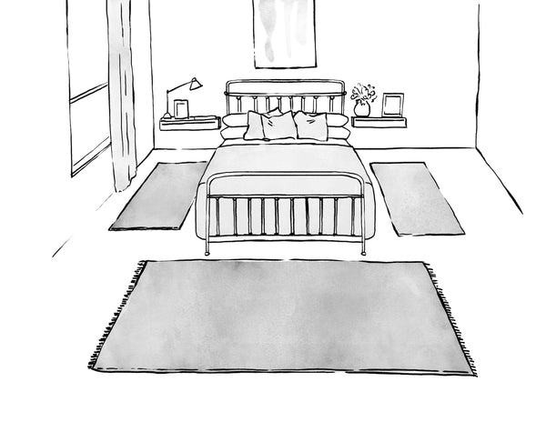 Lilla Rugs Placement Guide Bedroom Frame the Bed