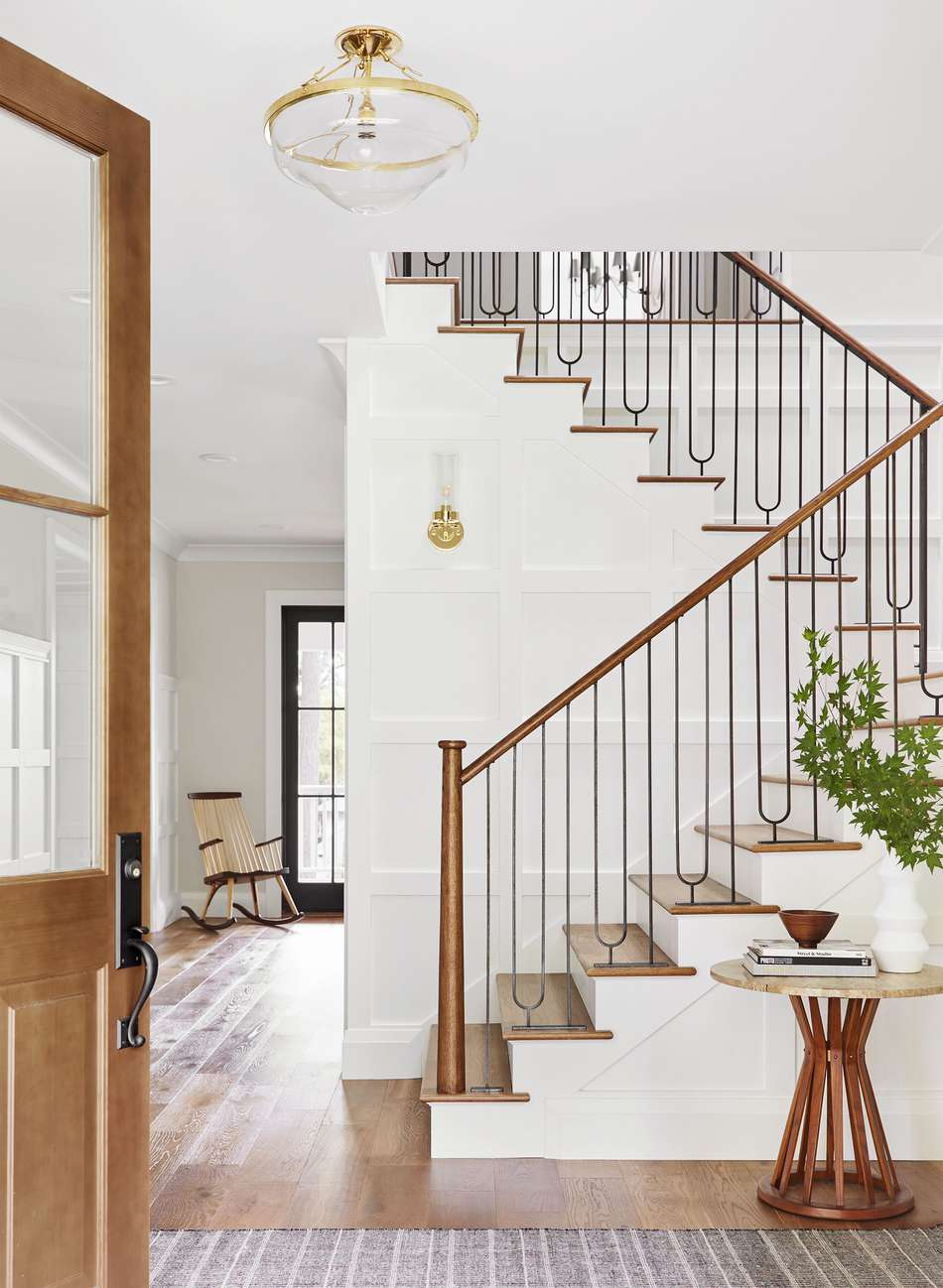 emily henderson, stairway decor, interior design, design ideas, design inspiration, london rugs, runners, rug collections, oriental rugs, persian rugs