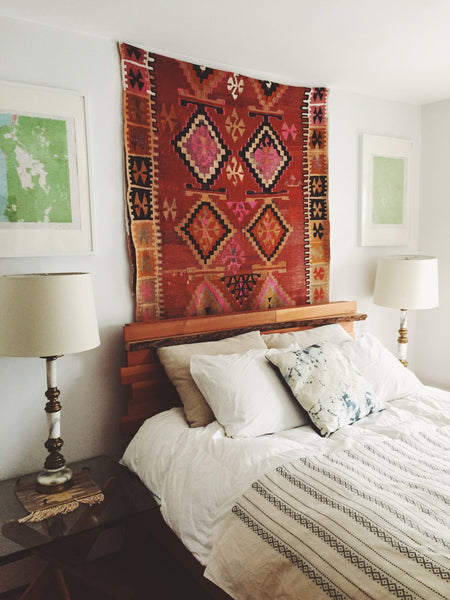 Lilla Rugs Blog Post on Rug Hanging Kilim Rug