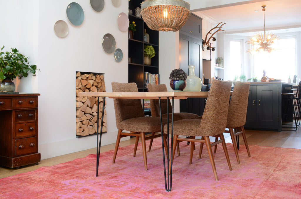 Lilla rugs dining room persian overdyed pebbles rug