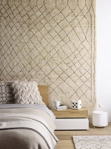 Moroccan Rug Wall Hanging Lilla Rugs Blog Post Elle Decoration image