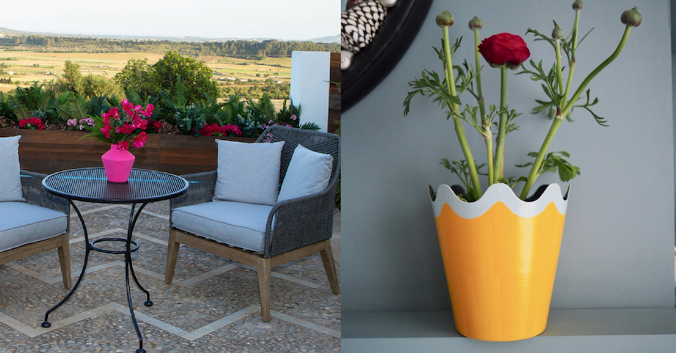 matilda goad plant pot lilla rugs blog post on love island villa interiors