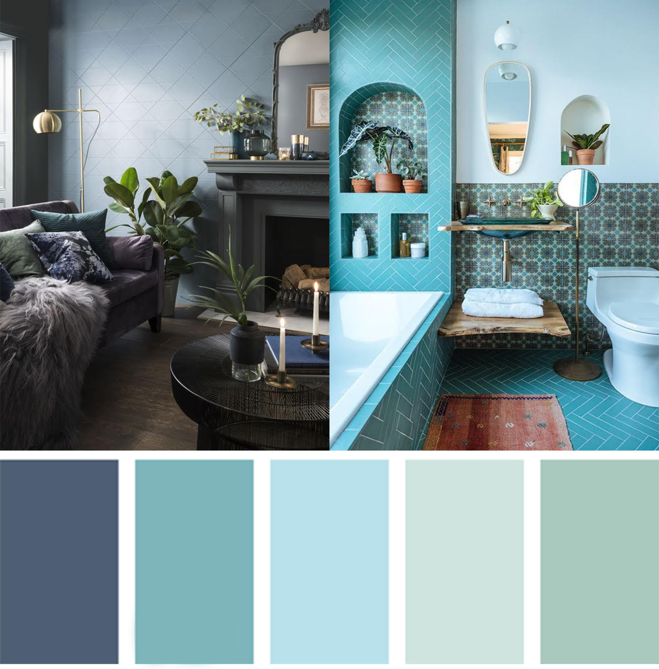 Colour psychology, interior design, cool colours