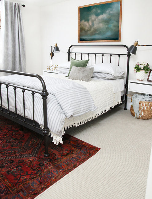 7 rug hacks to make a small room look bigger lilla rugs blog post front legs under