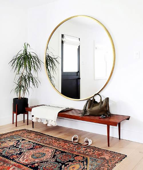 Mirrors make a small space look larger