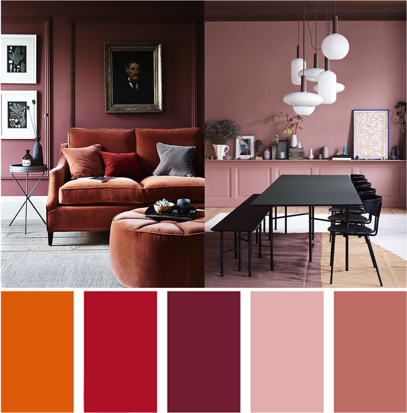 Colour psychology, interior design, warm colours