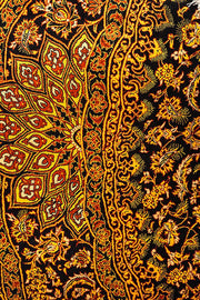 HONEY Persian Qum Silk 145x145cm Circle Orange