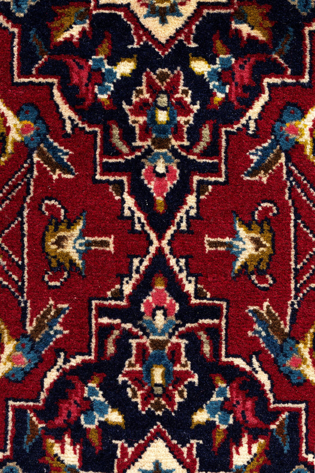 HAZE Persian Kashan Red Runner 404x97cm Front