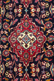 LUNA Persian Kashan Navy Runner 398x100cm Close
