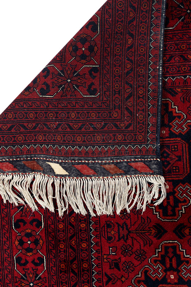 MADA Afghan Kunduz Dark Red Burgundy 350x251cm Back