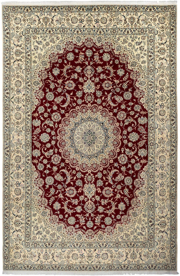 MIRACLE Persian Nain 6La 355x251cm Red and Cream Rug