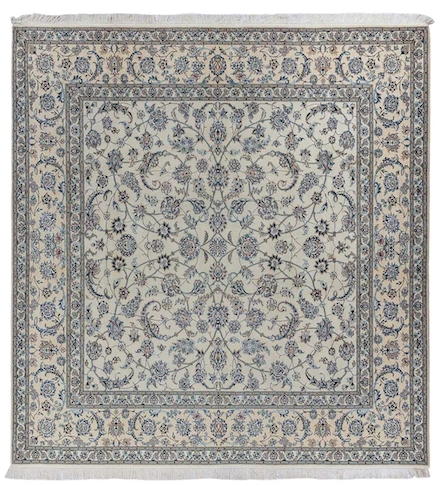 NARLI Persian Nain 6La 202x202cm Blue and cream