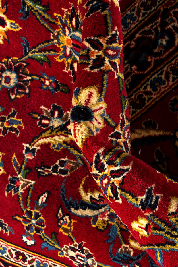 NOVA Persian Kashan Red Runner 434x104cm Close