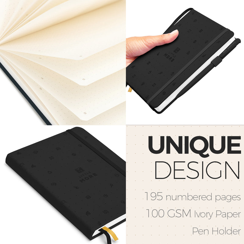 BLACK Bullet Journal Notebook - AVAILABLE ONLY IN USA