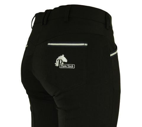 CoolMax Black Breeches in sizes 6 to 28 - No Silicone