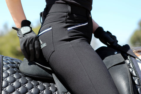 Bamboo Breeches in Black. Sizes 6 to 28