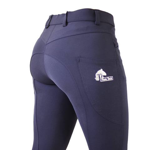 CoolMax Navy Breeches with NO Silicone