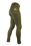 Riding tights in Olive - No Silicone Seat. Sizes 6 to 28