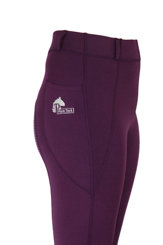 Riding Tights in Wine - Sizes 6 to 28