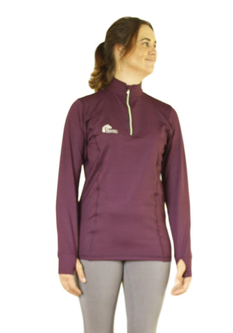 Long sleeve base layer tops in Wine