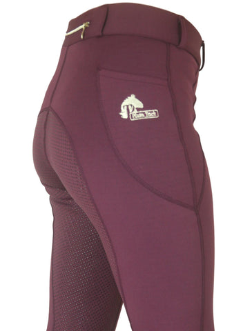 Winter Wine riding tights. In sizes 6 to 28