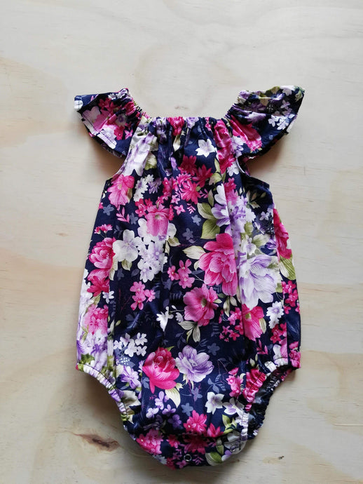 Floral baby playsuit