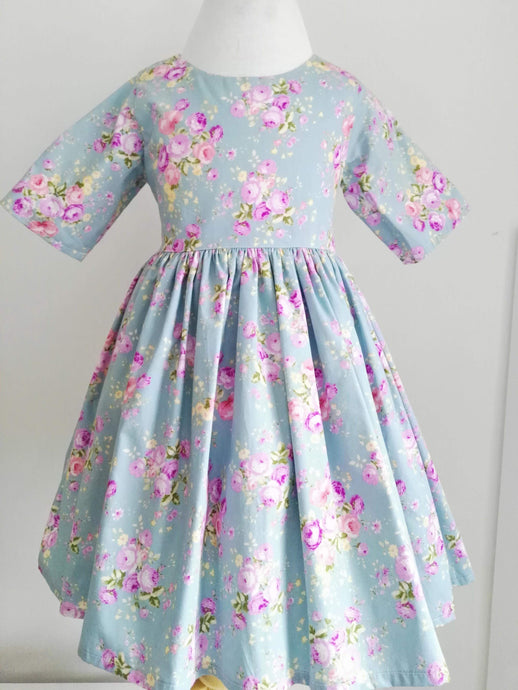 Blue bird dress size 5