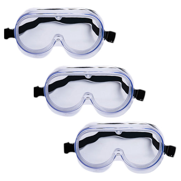 3PCS Medical Waterproof Goggles Antivirus Fully Enclosed Cover Eye Mask Glasses