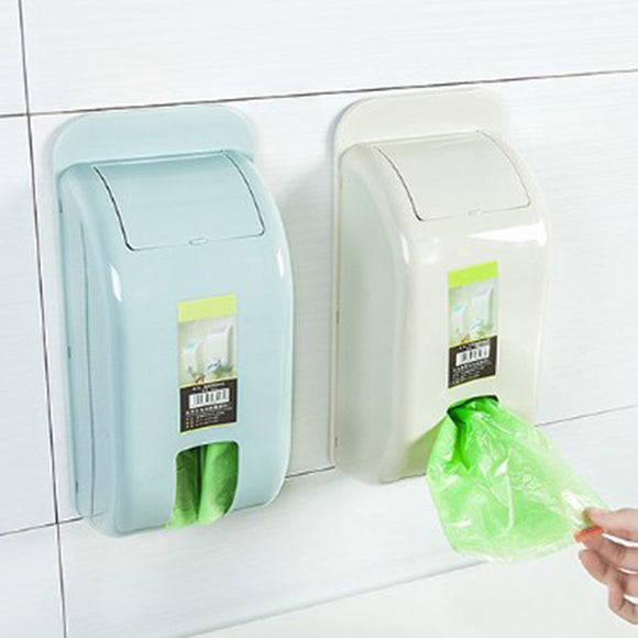 Ousili 8003 Wall-Mounted Plastic Bag Storage Box Garbage Trash Bags Storage Container