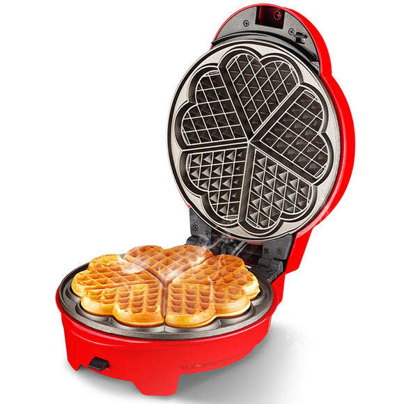 Non Stick Electric Waffle maker Baker (Heart shape, Bubble egg, Donuts)