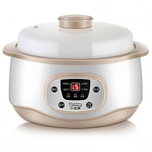 LOTOR 1.2L Automatic Electric Stewpot With 2 Ceramic Small Liner