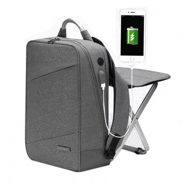 Male Backpack Business Backpack Male Multi-functional Backpack Built-in Chair Big Capacity Available for 15.6