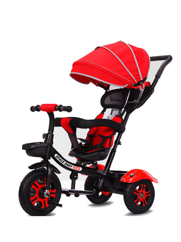 Children's tricycle 1-6 years old 2 bicycle baby stroller