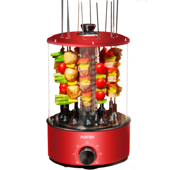 Aoran KCJ-01 Electric Vertical BBQ Home Smokeless Timing Autorotation Kebab Grill Machine Hot