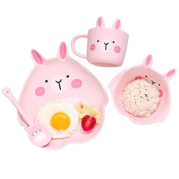 Home Ceramic Couple 2 People Bowl Creative Personality Cute Kid Friendly Breakfast Dish Set