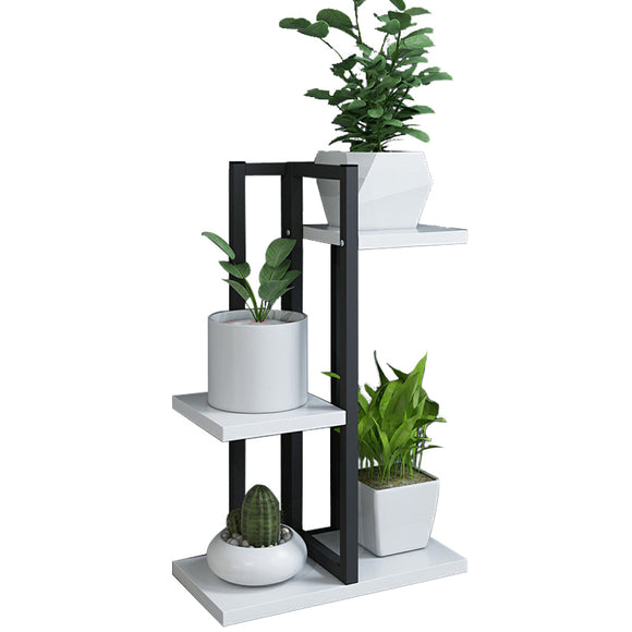 HALO 20200108 Nordic flower stand floor-standing iron frame balcony living room indoor flower shelf home decoration metal flower pot rack green dill rack