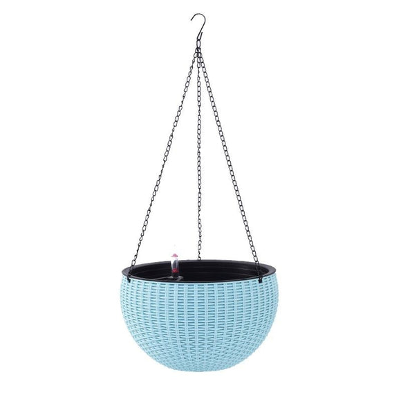 Leizisure Automatic water succulent fleshy flower pot hanging basket blue orchid hanging lazy creative plastic medium flower pot