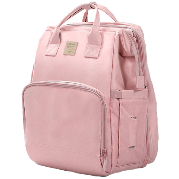 Valdera Portable Mommy Bag Folding Bed Large Capacity Multifunctional Backpack Bed Outing Maternal and Child Bag Shoulder Maternal and Child Bag