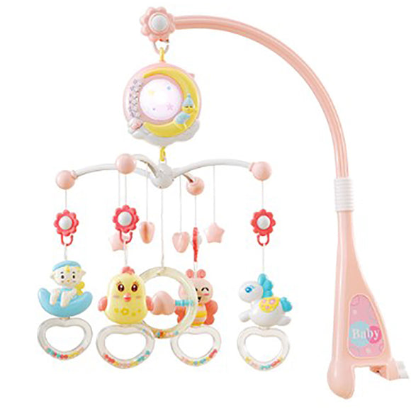 Multi-function Music Bed Bell Baby Toy Music Rotating Toy Newborn Bedside Rattle