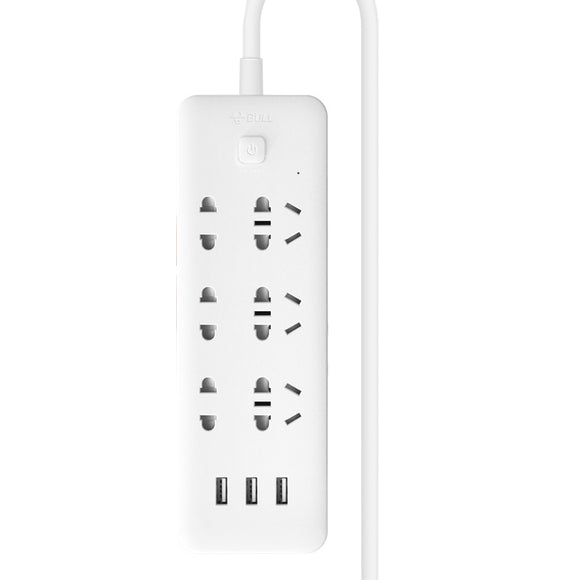 BULL GNV-UUN153 socket panel, multi-purpose plug-in strip with usb interface Multi-purpose plug-in board with cable