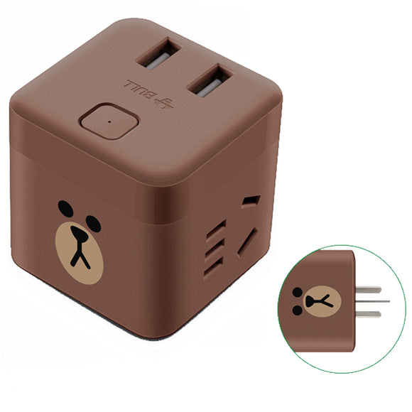 BULL GNV-U9212B socket USB socket smart wireless cube socket multi-function charging strip vertical plug strip