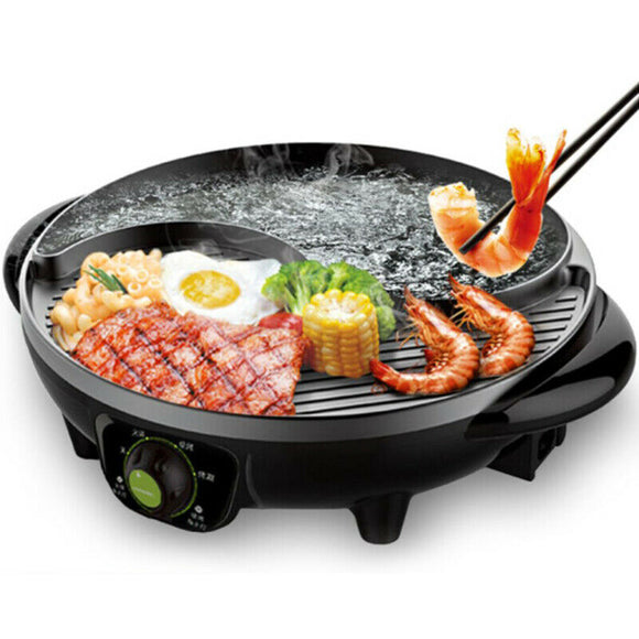 LIVEN SK-J3200A Electric Shabu Hot Pot with BBQ Multifunctional Electric Skillet SK-J3200A
