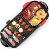 CMTM Electric 2 in 1 Hotpot BBQ Oven Smokeless Barbecue Pan Grill Machine