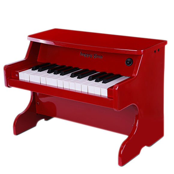 Happytime Electronic 25 Key Table Top Mini Wood Red Piano Children Toy